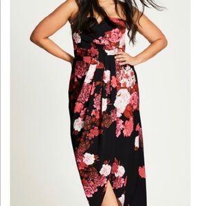 City chic faux wrap maxi dress